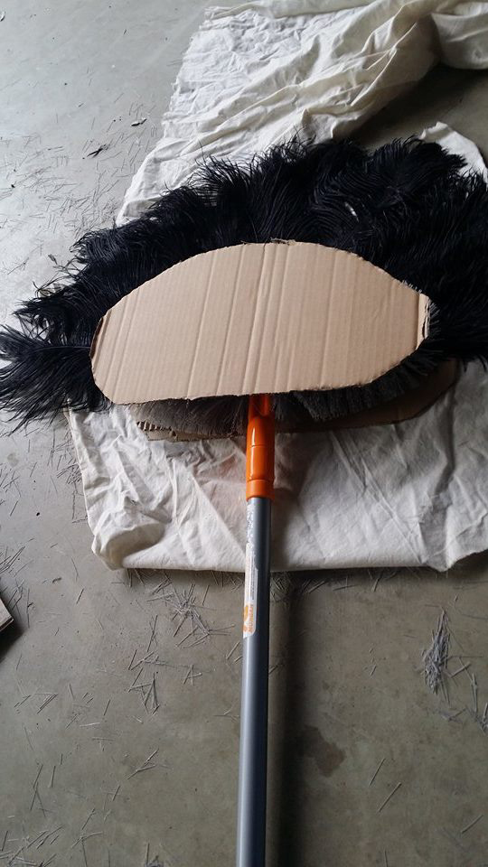 DIY Egyptian Fan Costume Prop Step 3