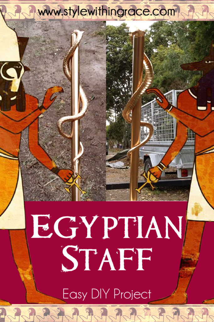 DIY Egyptian Staff Costume Prop
