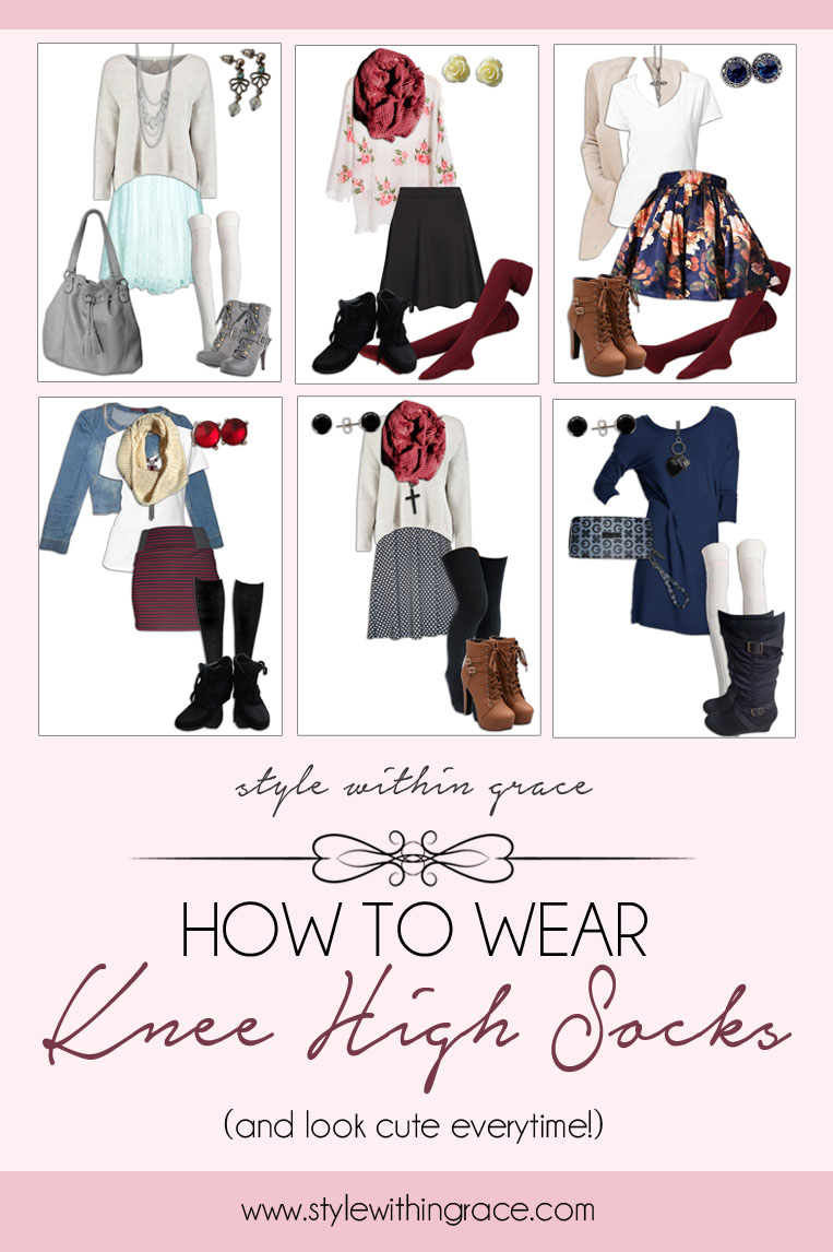 How to Wear a Knee High Socks Vertical