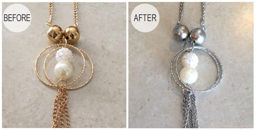 Jewellery Makeover DIY Before and After 1