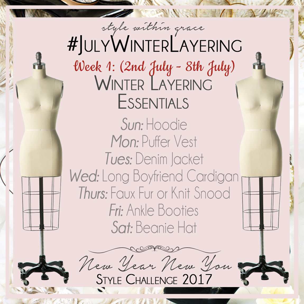 July Winter Layering Style Prompts Week 1