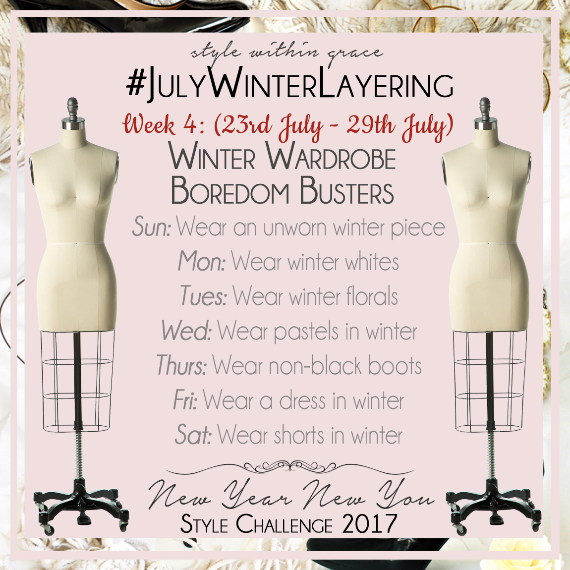 July Winter Layering Style Prompts Week 4
