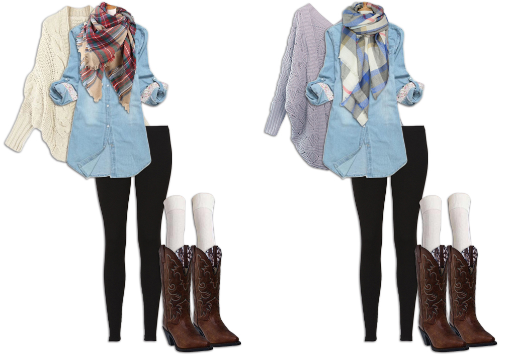 Leggings Outfit Batwing Cardigan