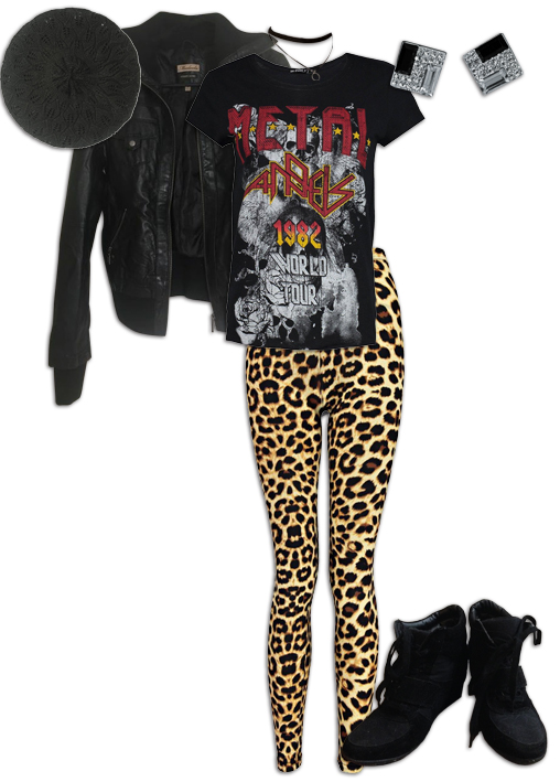 Leopard Print Leggings Graphic Tee Outfit
