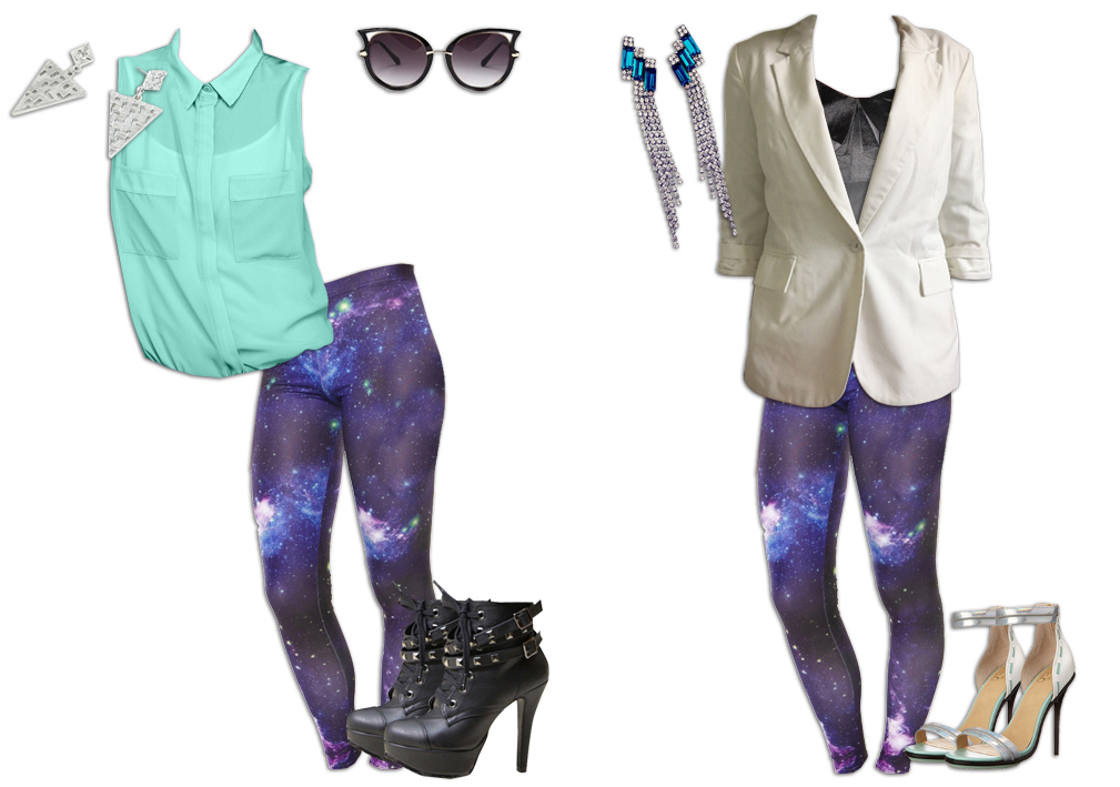 Nebula Leggings Colour Picking Outfits