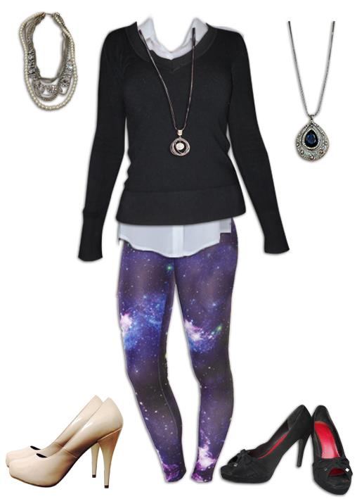 Nebula Leggings More Dressy Outfit