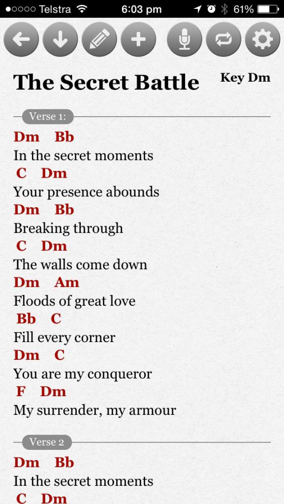 Songwriter Lite App Screenshot 1