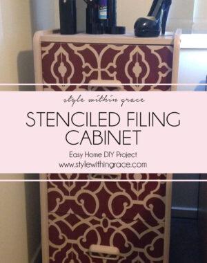 DIY Filing Cabinet Stencil Makeover 1