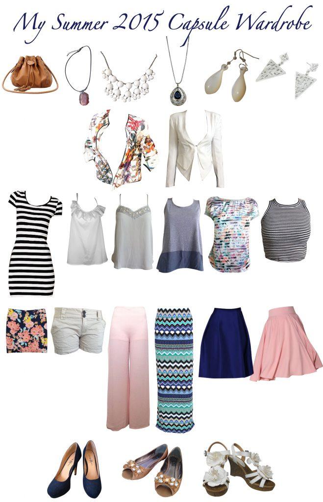 Summer Capsule Wardrobe Clothing Items