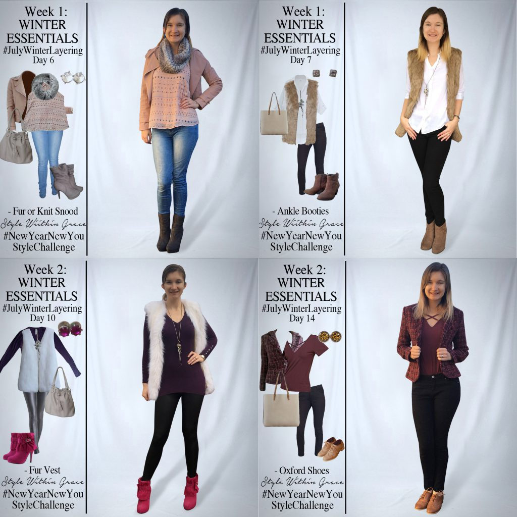 July Winter Layering Week 1+2 Outfit Ideas