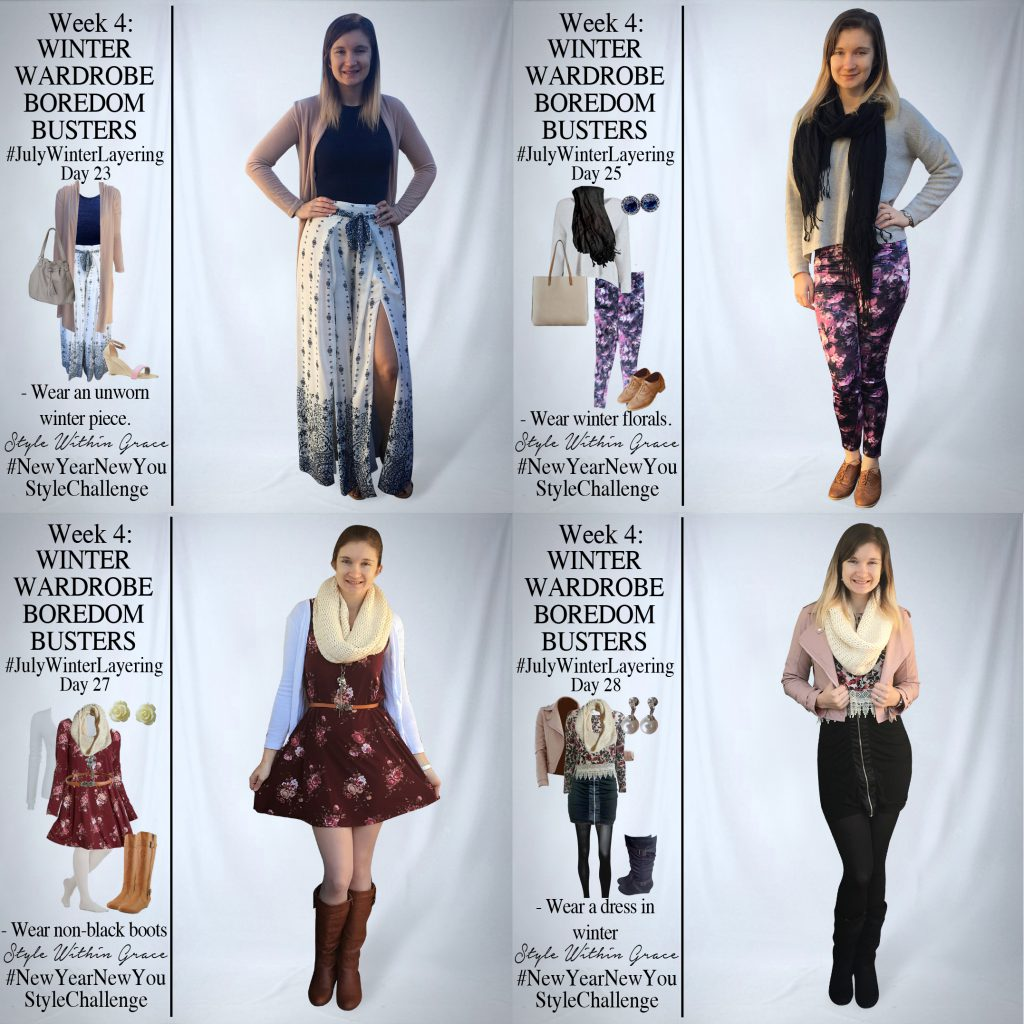 July Winter Layering Week 4 Outfit Ideas