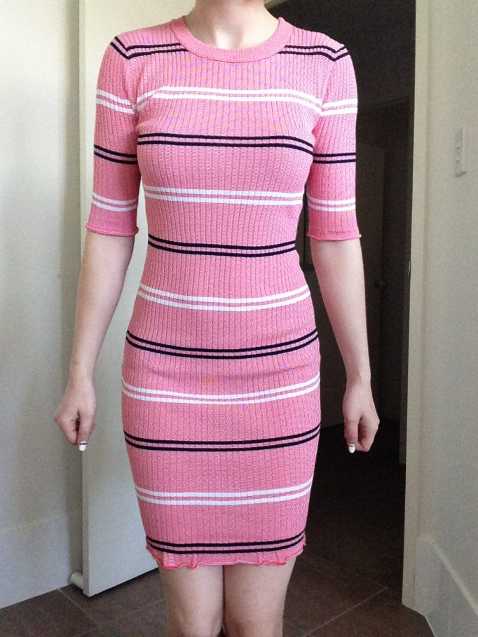 Sweetly Striped Pink Dress