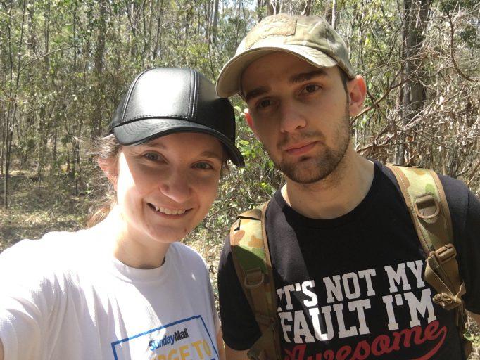 Geocaching in the Bush - Found One!