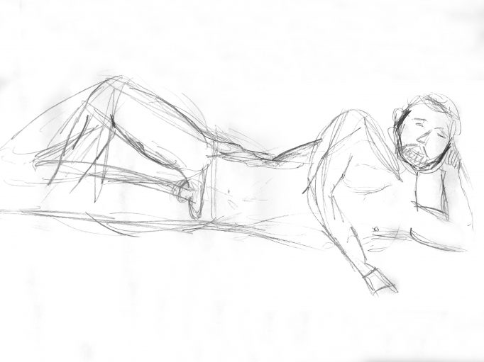Life Drawing Round Robin Sketch
