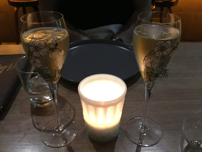 French Champagne Candle Light