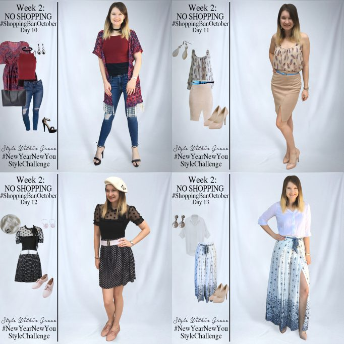 Shopping Ban October Outfit Ideas Week 2