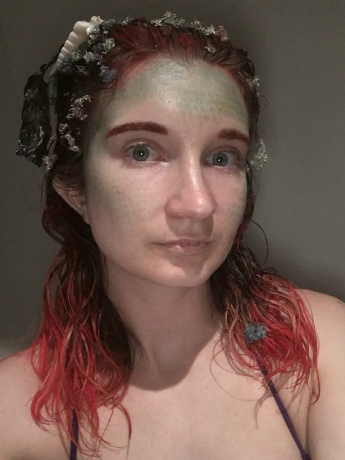 Creepy Ariel Little Mermaid Costume Hair and Make Up
