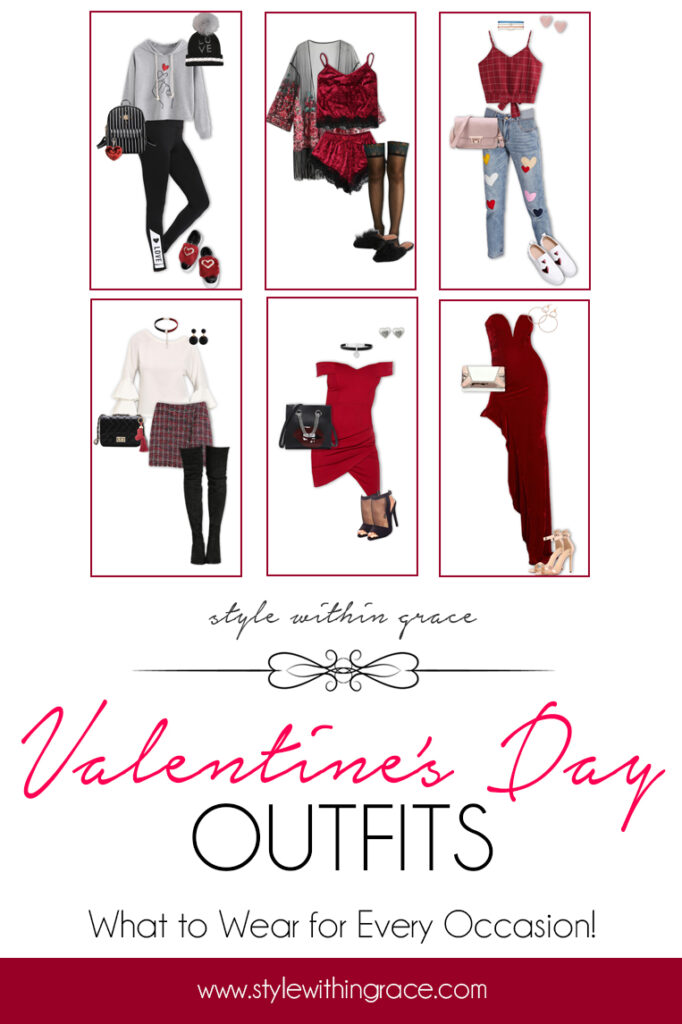 Valentine's Day Outfits Pinterest Graphic
