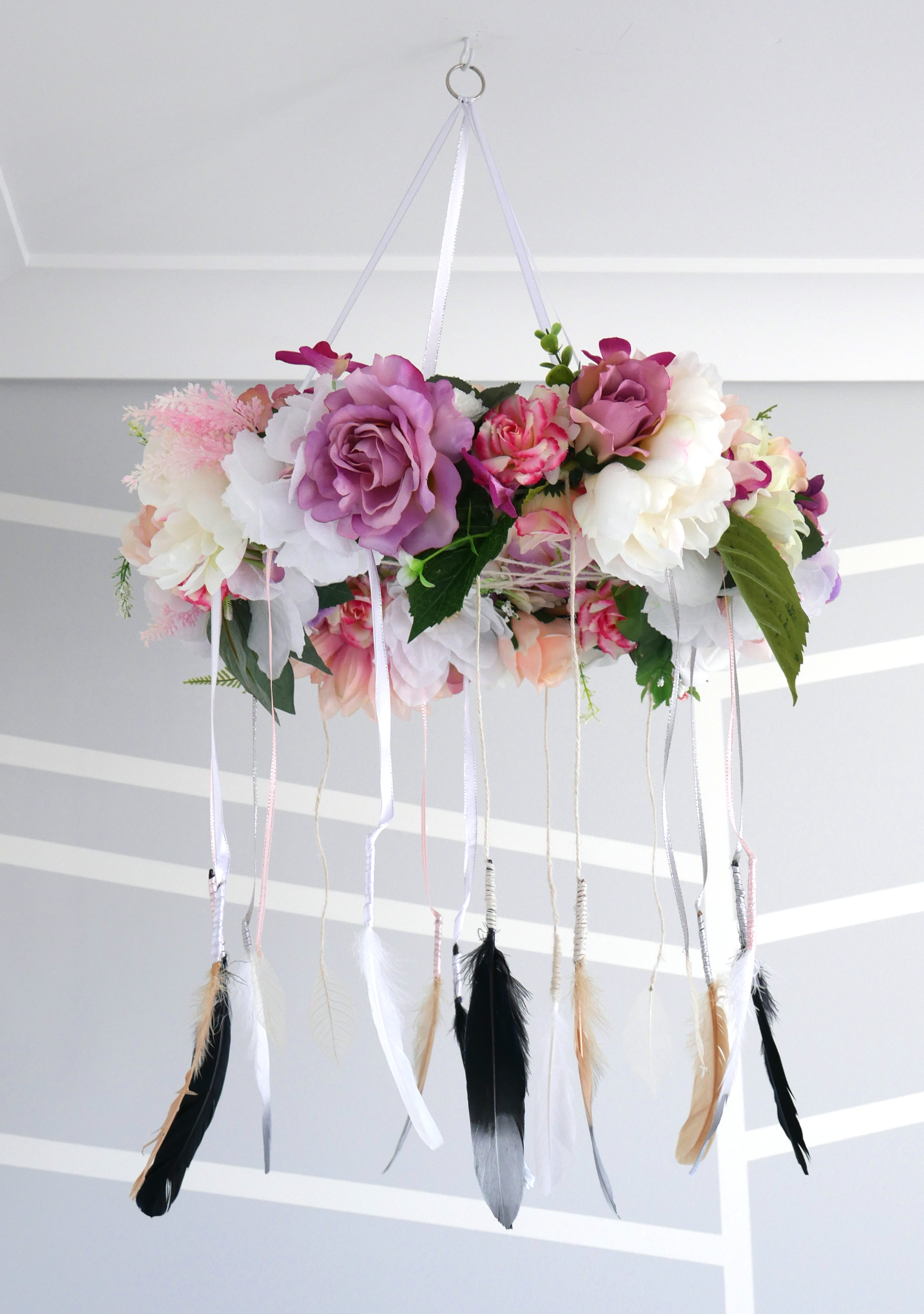 DIY Floral Dream Catcher Baby Mobile 1