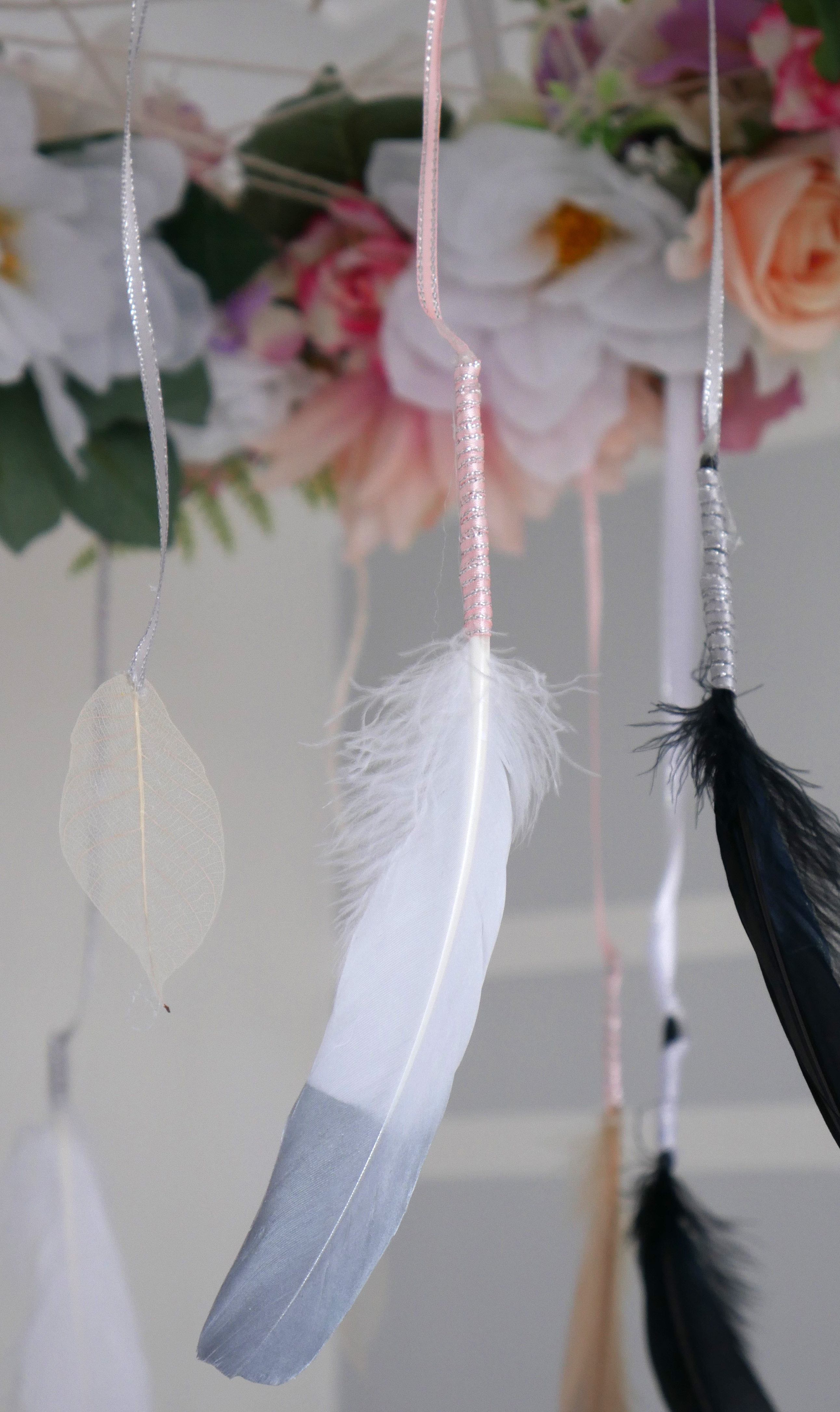 DIY Floral Dream Catcher Baby Mobile 2