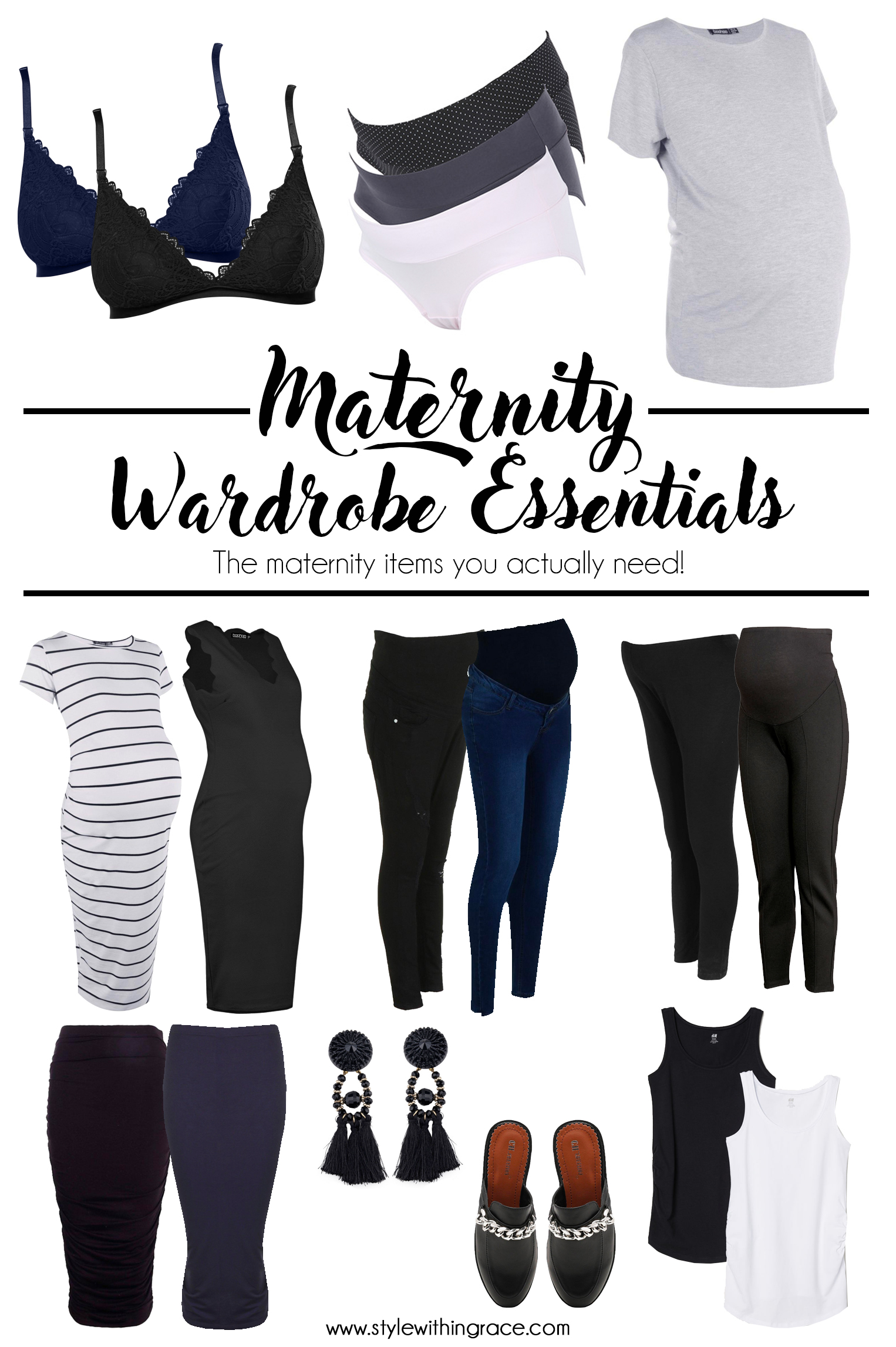 Maternity Wardrobe Essentials Pinterest Graphic