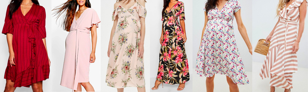 Maternity Wardrobe Essentials - Wrap Dresses