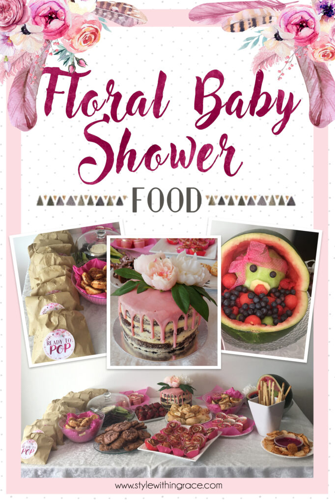 Floral Baby Shower Food