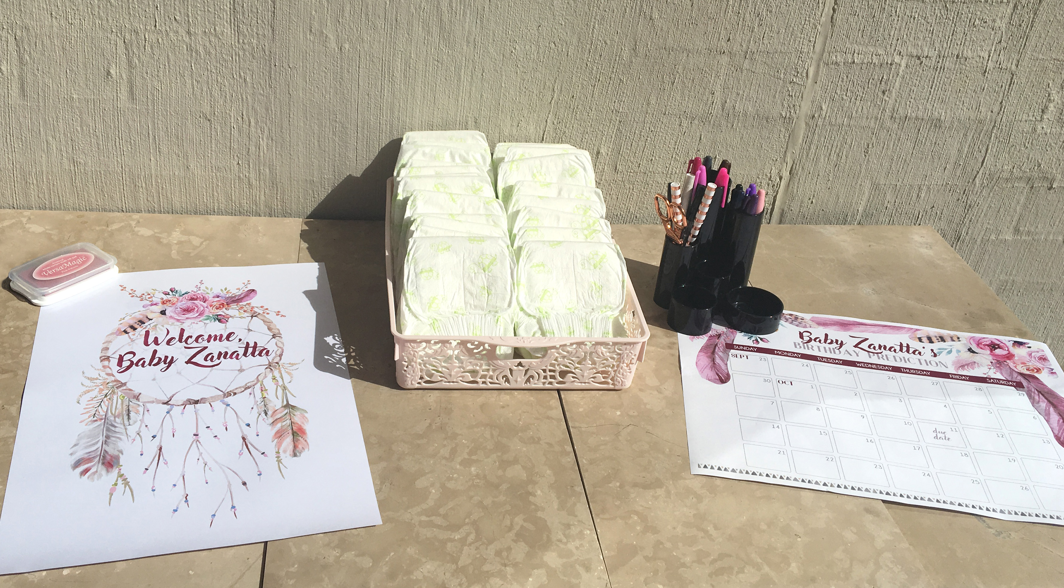Floral Baby Shower Craft Station