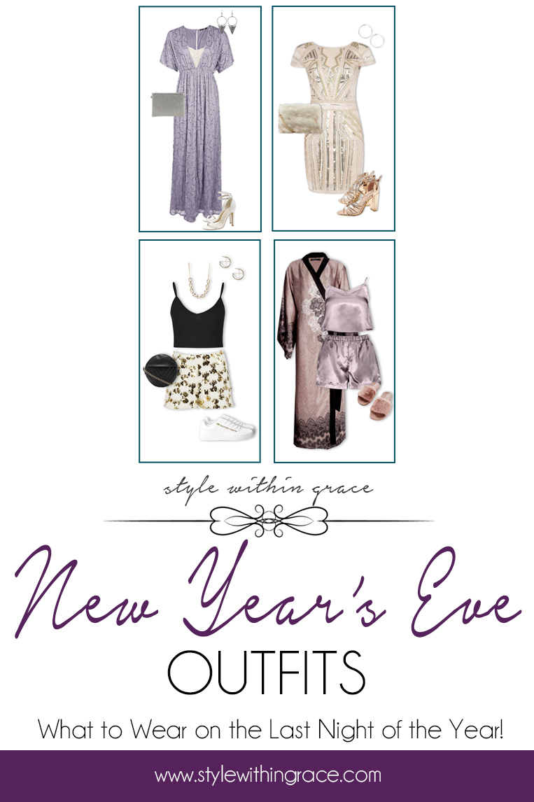 New Year's Eve Outfits Pinterest Graphic