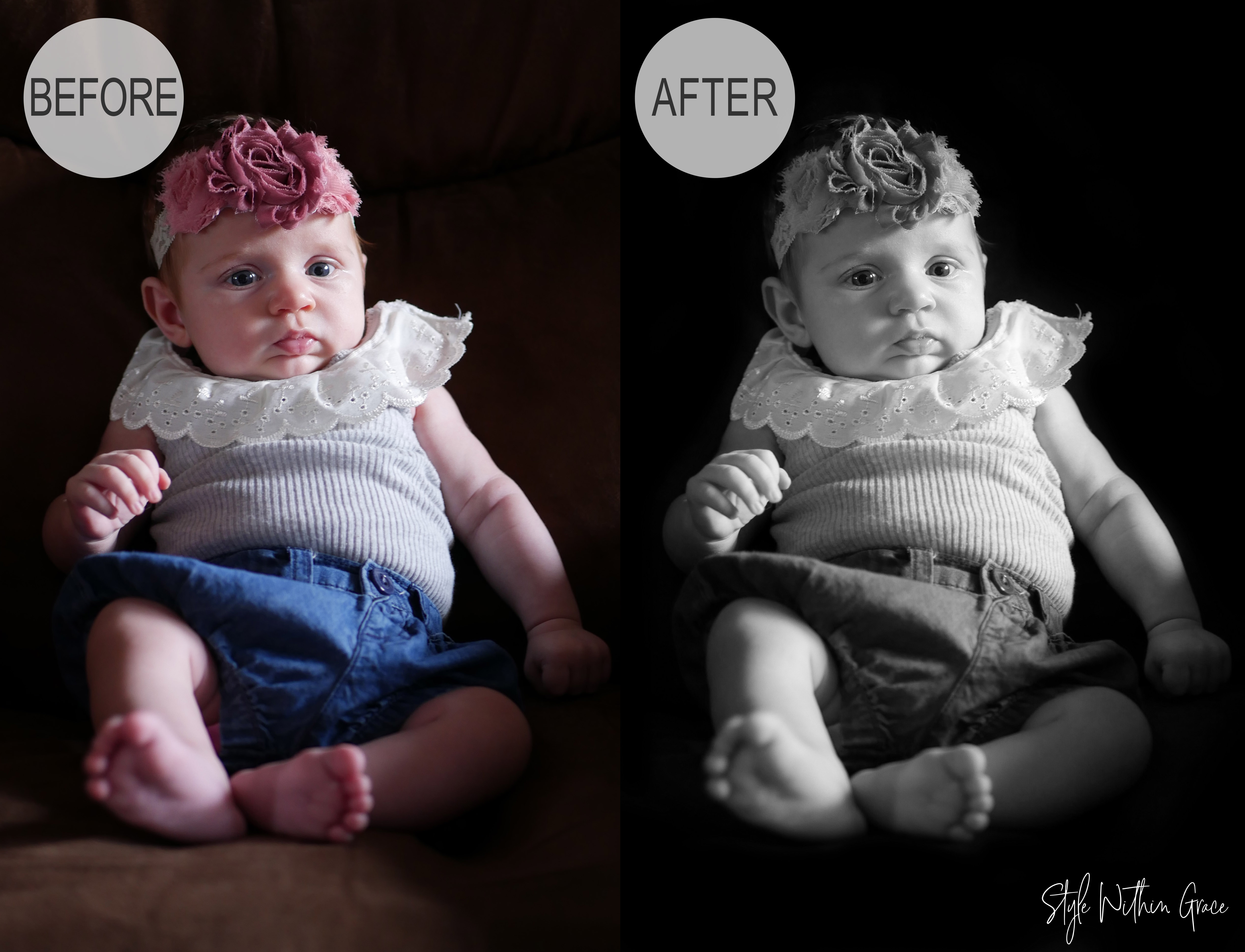 Newborn Photography Before and After 1