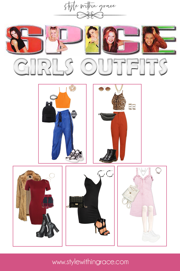 Spice Girls Outfits Pinterest Graphic