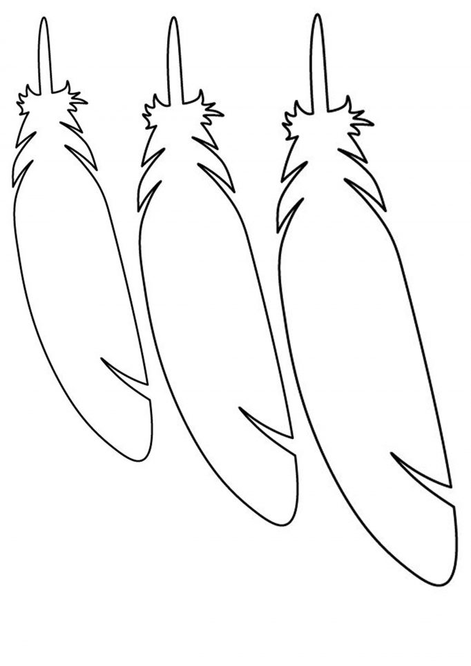 Cut Out Feather Template