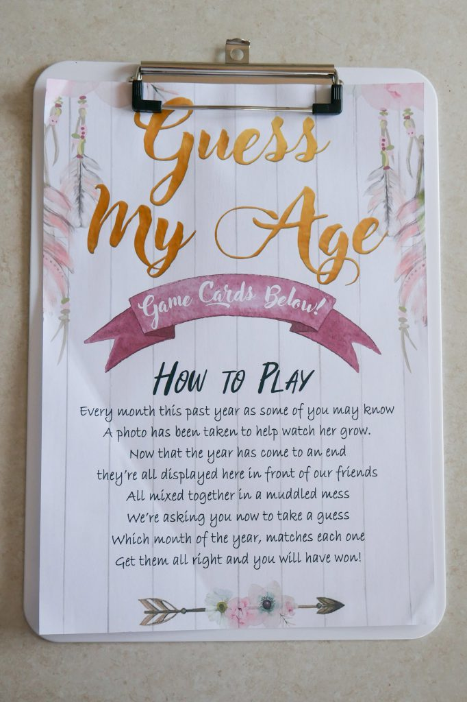 Wild One Birthday Party Guess My Age Explanation Sheet