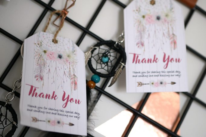 Wild One Birthday Party Thank You Dreamcatcher Favours Tag