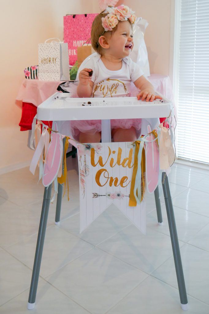 Wild One Birthday Party Decor High Chair Banner