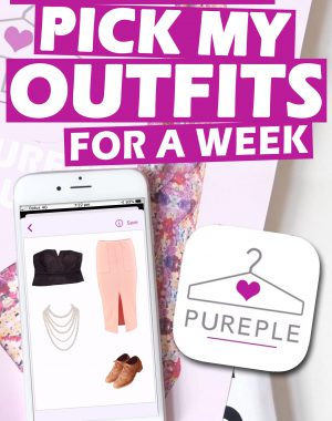 Letting An App Pick My Outfits (Pureple) Pinterest Graphic