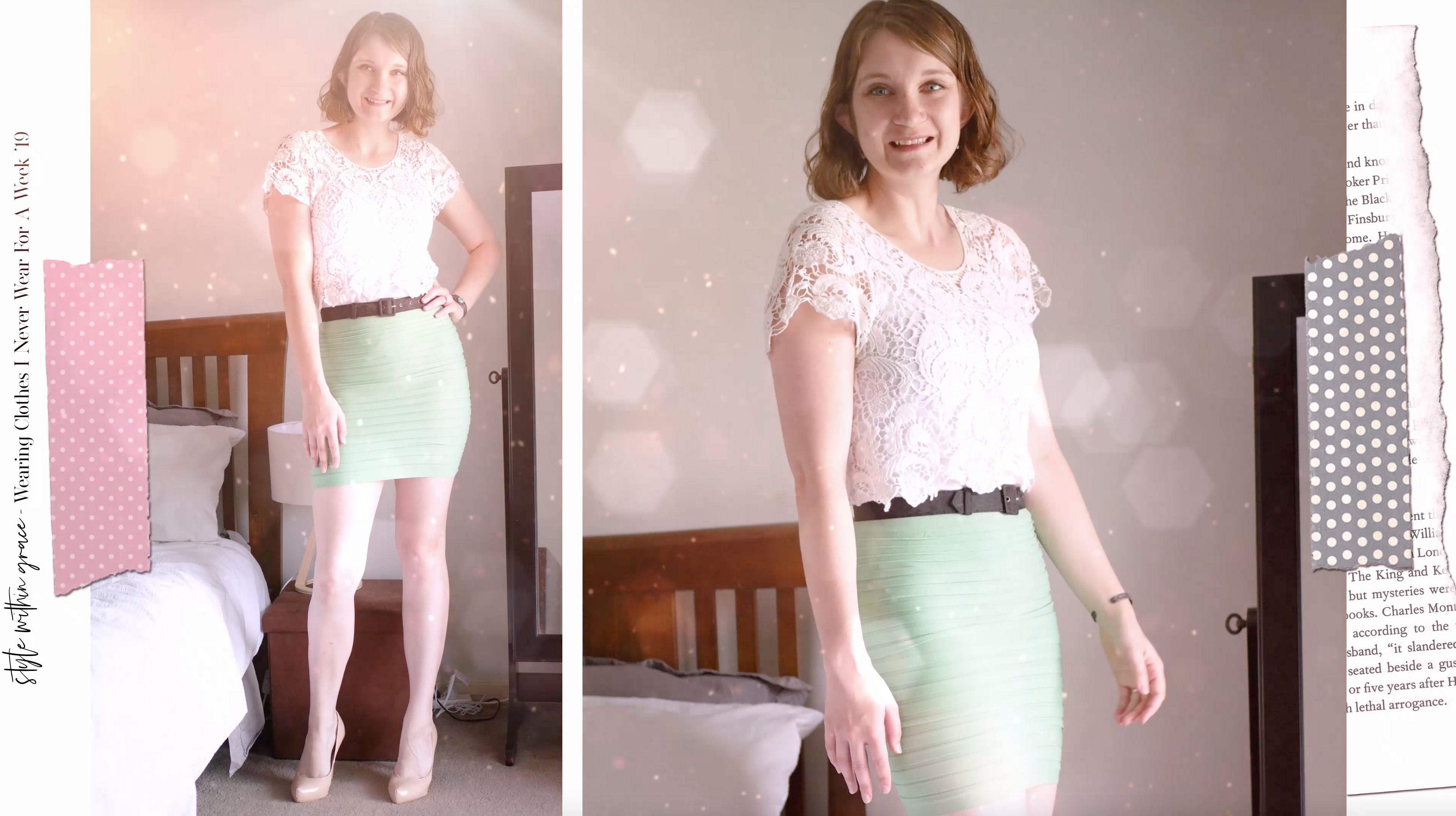 Mint Mini Skirt Outfit