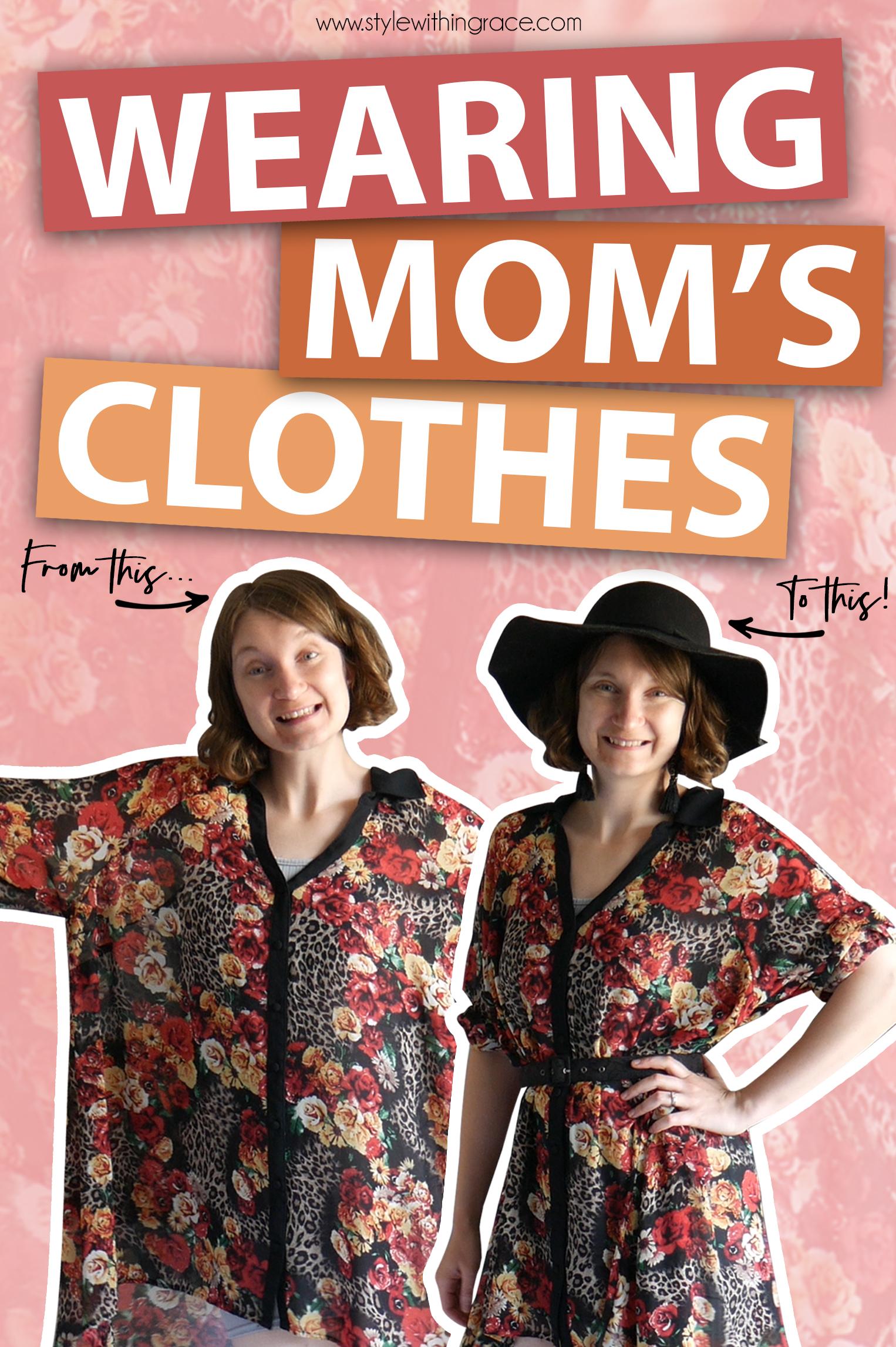 Raiding My Mums Closet Pinterest Graphic