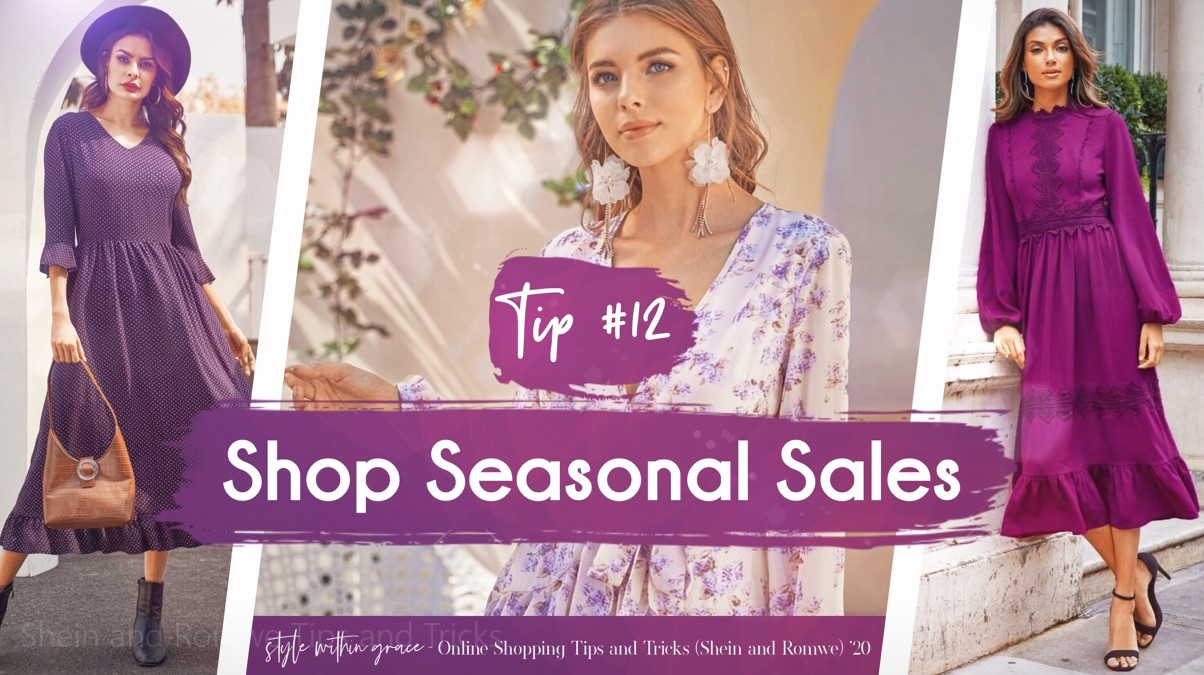 Online Shopping Tips and Tricks #12 - Shop Seasonal Sales