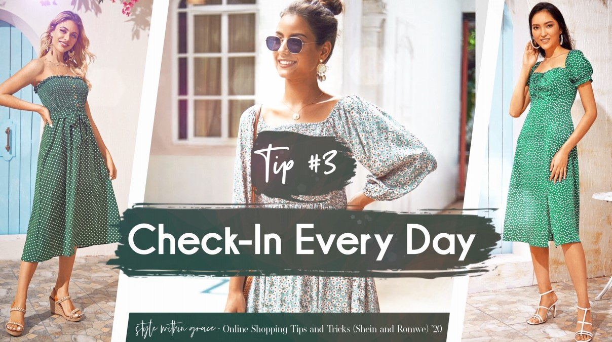 Online Shopping Tips and Tricks #3 - Check-In Every Day