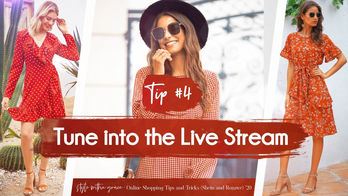 Online Shopping Tips and Tricks #4 - Tune Into the Live Stream