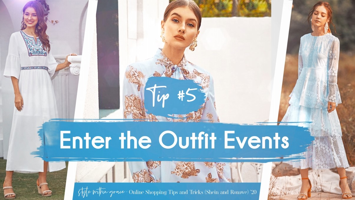 Online Shopping Tips and Tricks #5 - Enter The Outfit Events