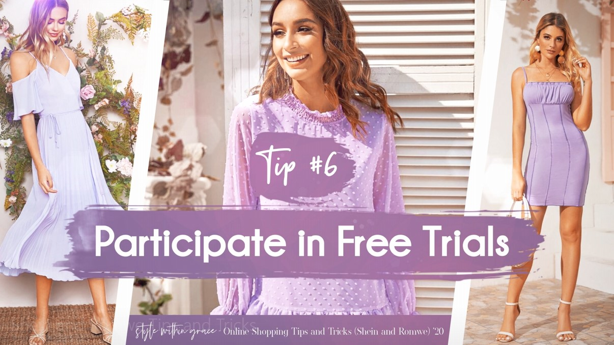 Online Shopping Tips and Tricks #6 - Participate in Free Trials