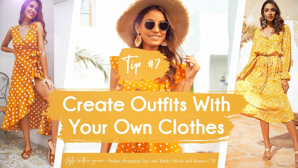 Online Shopping Tips and Tricks #7 - Create Outfits With Your Own Clothes