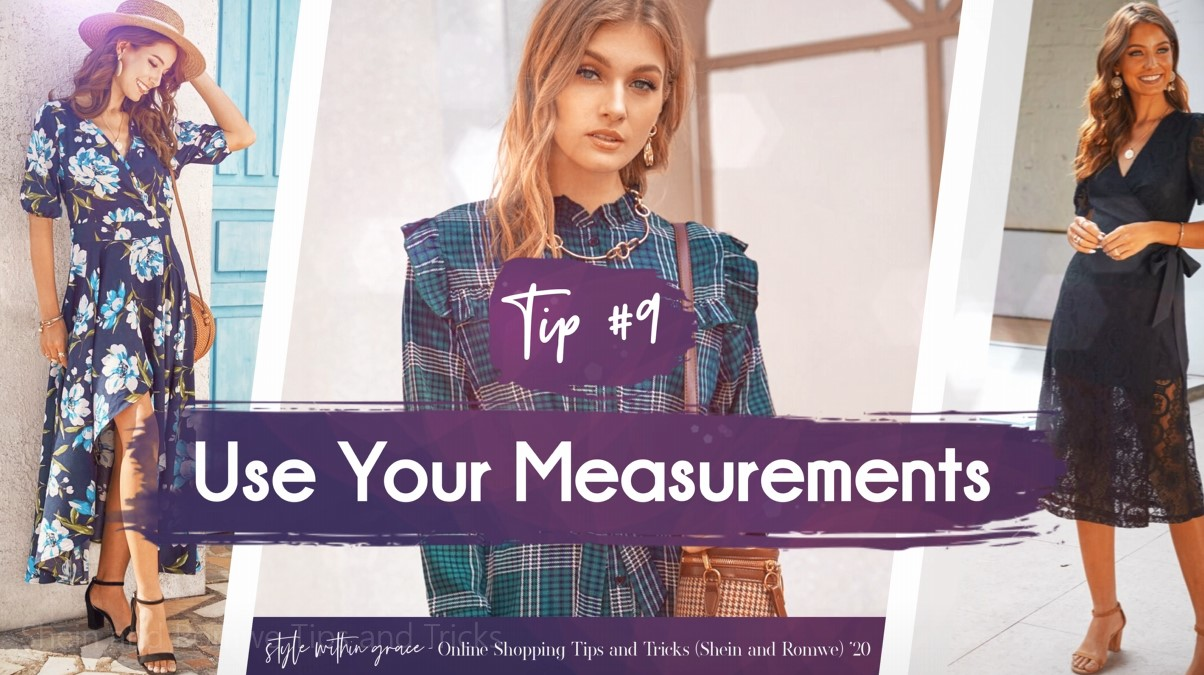 Online Shopping Tips and Tricks #9 - Use Your Measurements