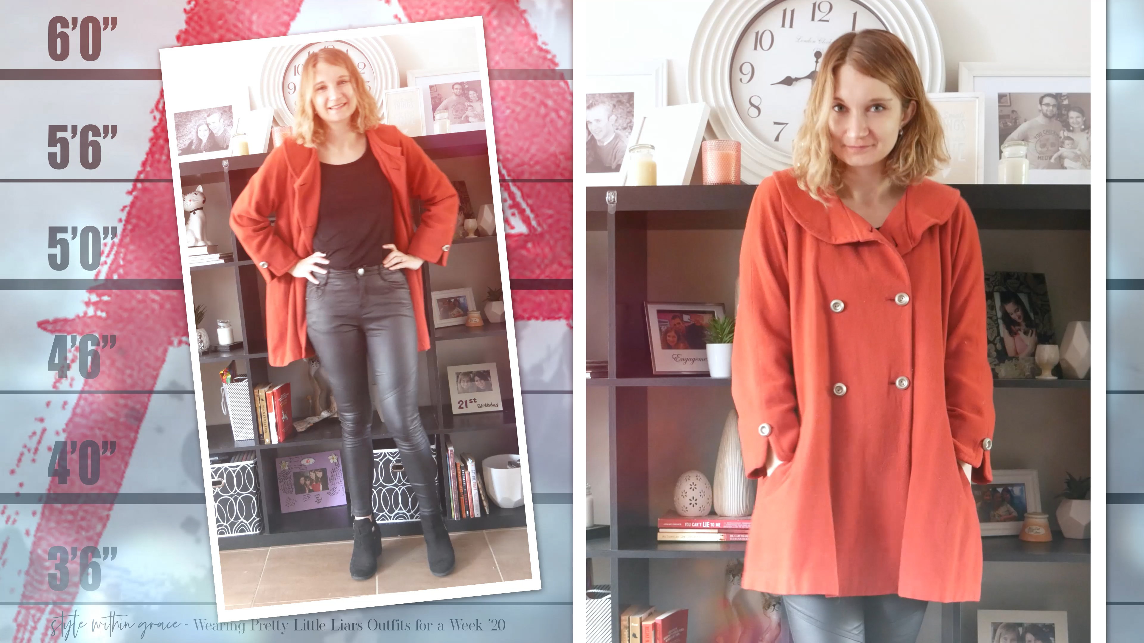 Pretty Little Liars Outfit Day 5 Red Coat