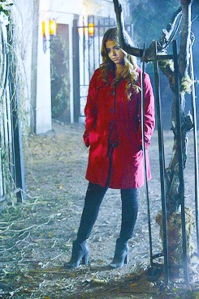Pretty Little Liars Red Coat Outfit