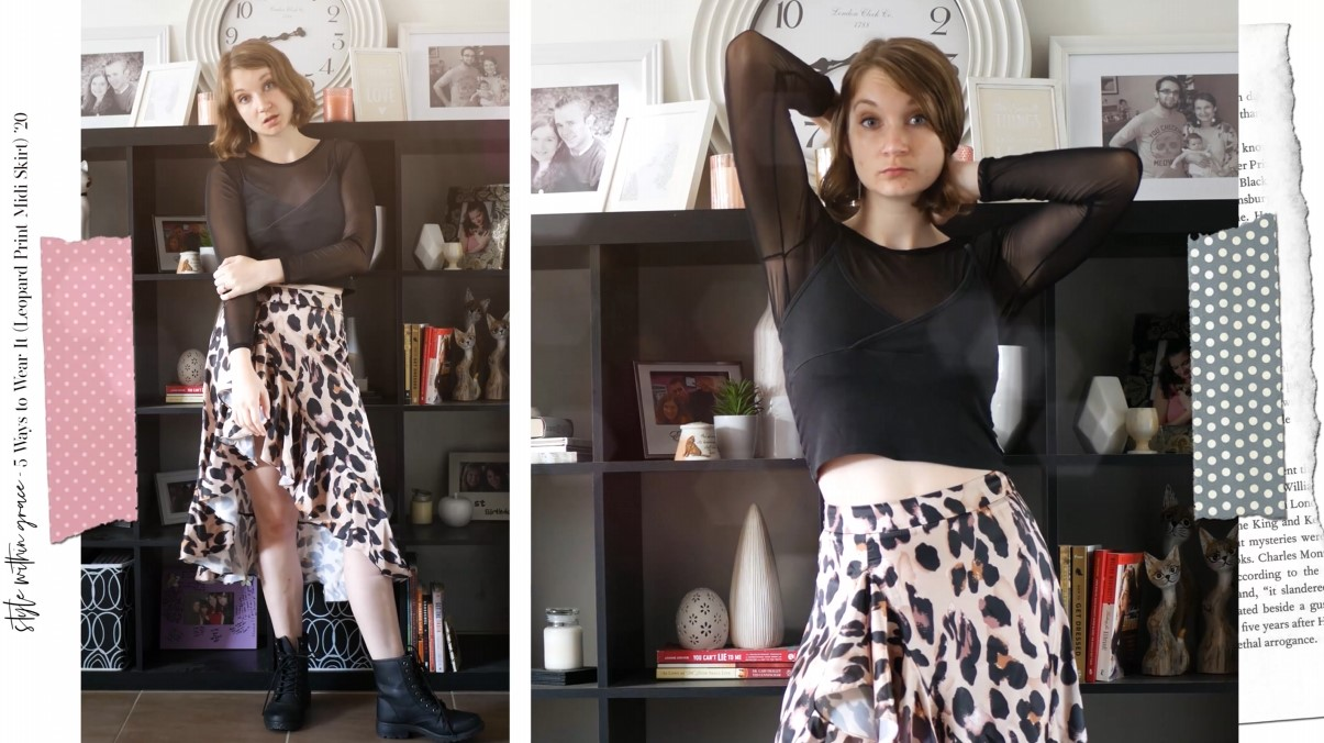 Leopard Print Midi Skirt Edgy Outfit 4