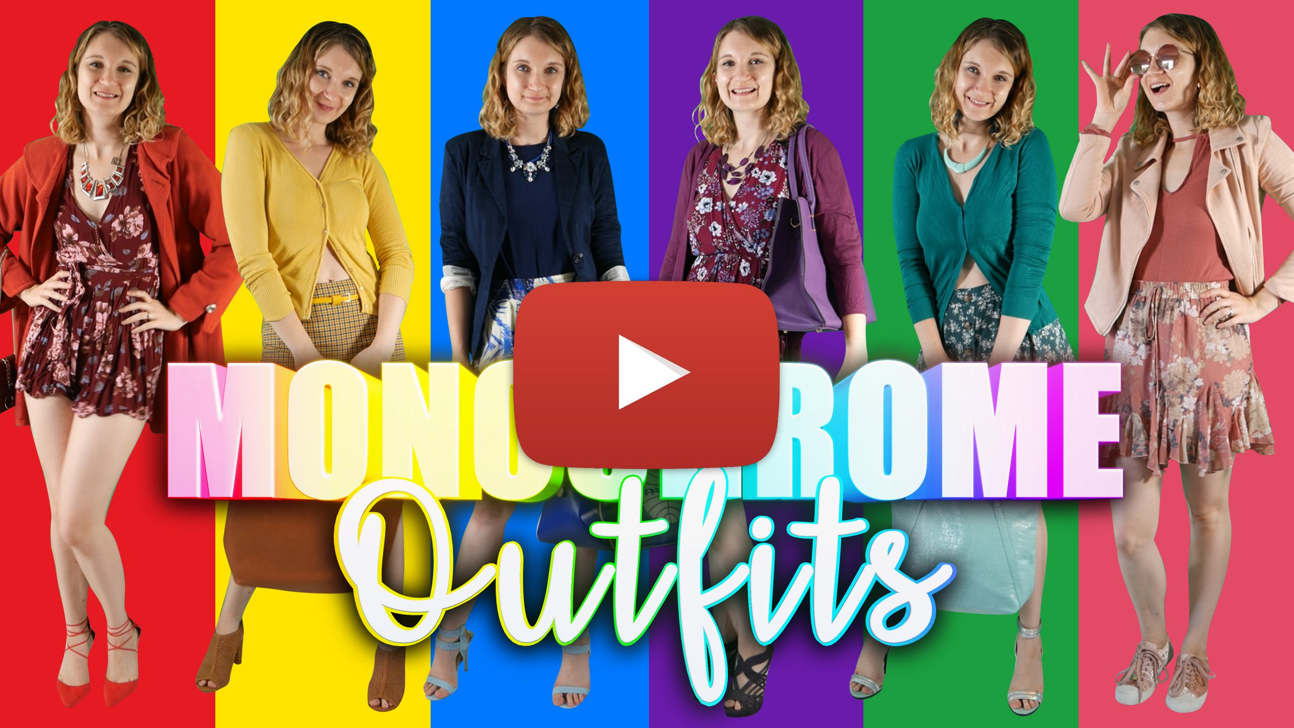 Monochromatic Outfits Youtube Thumbnail Play Button