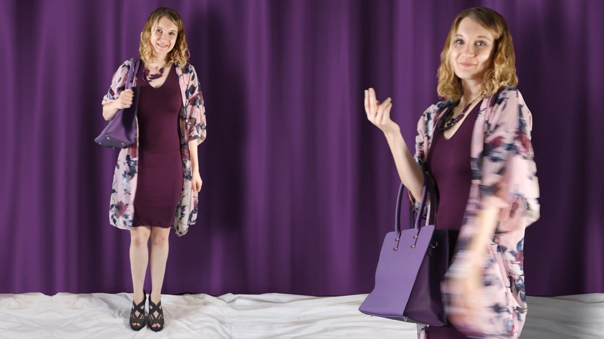 Purple Monochromatic Outfit 02